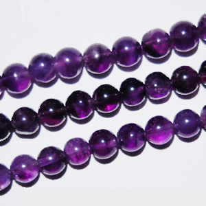 African Amethyst Beads Round Plain Shape And Size 4 mm